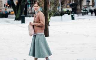 Теплая юбка в пол