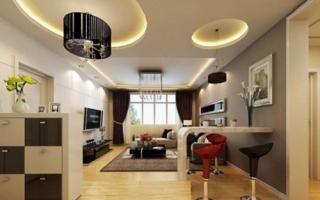 Потолки из гипсокартона – фото для зала: дизайн с подсветкой, образцы