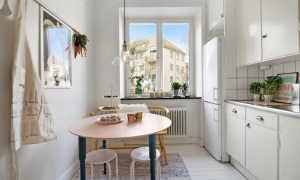 Круглый стол на кухню: применение закругленного дизайна в кухонном интерьере