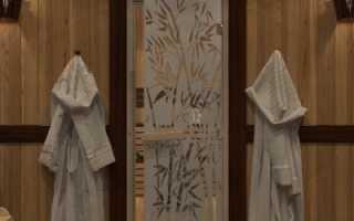 Дверь в парную: стеклянная, деревянная, размеры, чертежи, фото