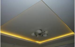 Многоуровневые потолки из гипсокартона: с подсветкой, монтаж своими руками