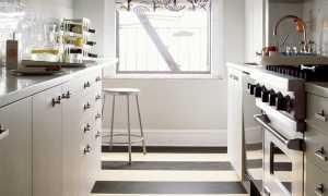 Линолеум в интерьере кухни + фото
