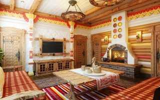 Кухня в деревянном доме: с печкой, маленькая, дизайн, фото