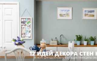 Декор стены на кухне: идеи и стили оформления кухонных стен своими руками