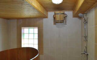 Моечная в бане: дизайн, отделка, интерьер