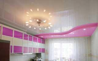 Двухуровневые натяжные потолки на кухне: двухъярусные и многоуровневые
