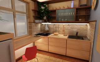 Дизайн маленькой кухни в панельном доме + фото