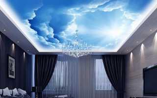 Обои для потолка со звездами, облаками + фото
