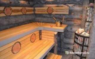 Полок в баню своими руками: размеры, конструкция, расположение, чертежи