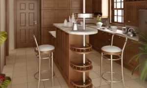 Аксессуары для барной стойки на кухню: бокалы и пилоны, труба и крепление