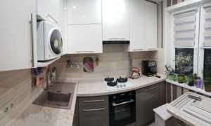 Интерьер кухни 6 метров с холодильником + фото