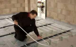 Водяной теплый пол на бетонном основании