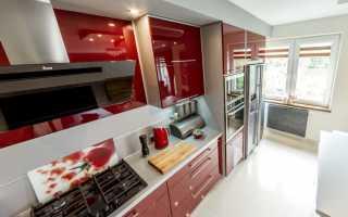 Красные обои на кухне + фото