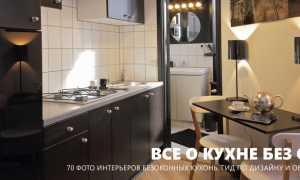 Дизайн кухни без окна + фото