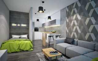 Оклейка стен разными обоями: комбинирование + фото