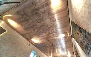 Паркетная доска на потолок