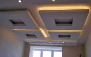 Гипрочный потолок с подсветкой своими руками, фото