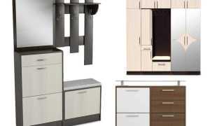 Модульная мебель для маленькой прихожей + фото