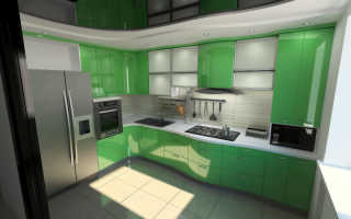 Зеленая кухня: реальные фото интерьеров