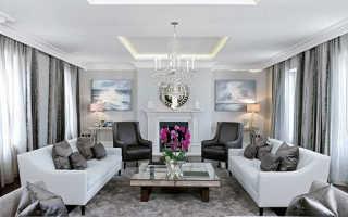 Дизайн потолков из гипсокартона для гостиной