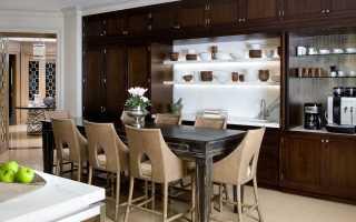 Классические стулья для кухни в современном стиле кухонного интерьера