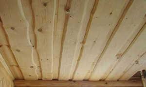 Потолок из доски
