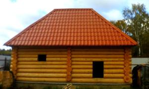 Крыша для бани: установка стропил, утепление