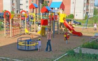 СНиП благоустройство детских площадок во дворах