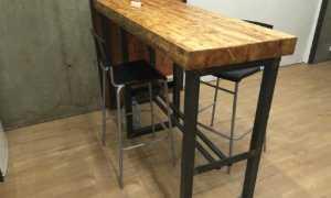 Барная стойка лофт для кухни: как сделать своими руками подвесную, из дерева