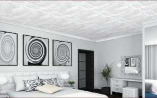 Как клеить потолочную плитку: способы, расчет, разметка