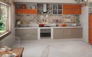 Плитка пэчворк для кухни на фартук: разноцветная керамическая плитка
