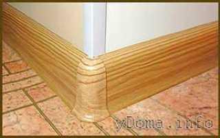 Кухонный плинтус потолочный и пристеночный напольный: как установить, крепление