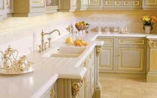 Столешницы из МДФ для кухни: глянцевая однотонная, для стола и подоконника