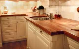 Столешница под дерево для кухни: из массива дерева дуба, лиственницы или сосны
