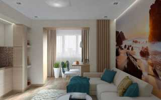 Интерьер однокомнатной квартиры + фото