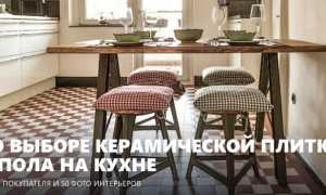 Напольная плитка для кухни: фото в интерьере