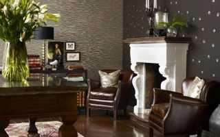 Комбинированные обои в гостиную: фото интерьера
