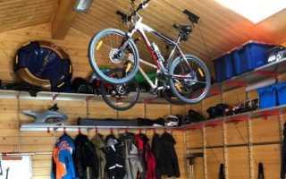 Крепление велосипеда к потолку на кронштейн, крюк, потолочный держатель