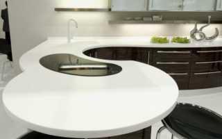 Угловая столешница для кухни: цельный кухонный обеденный стол без стыков