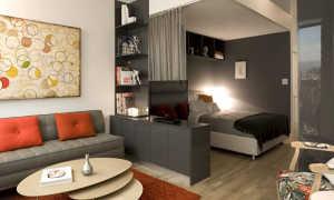 Дизайн гостиной-спальни + фото