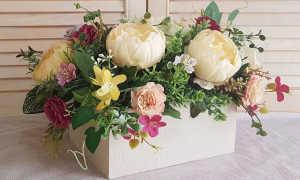 Искусственные цветы для интерьера + фото