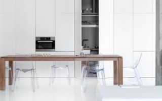 Кухня в стиле хай тек + фото