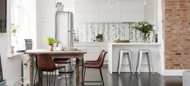 Кухня с темным полом: идеи кухонного интерьера с черным и коричневым полом