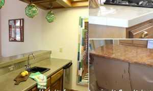 Столешница из ламината для кухни: ламинирование столешницы своими руками