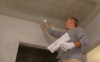 Как шпаклевать потолок: какую шпаклевку выбрать, как наносить, финишная шпаклевка, видео