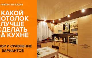 Варианты отделки потолка на кухне: пластиковыми панелями, гипсокартоном, натяжные