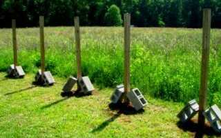 Установка столбов для ворот