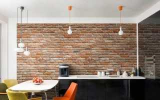 Обои для кухни: на стены и фартук, флизелиновые, оформление под кирпич и плитку