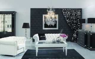 Черные обои для стен + фото