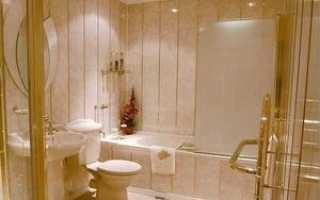 Отделка туалета пластиковыми панелями + фото